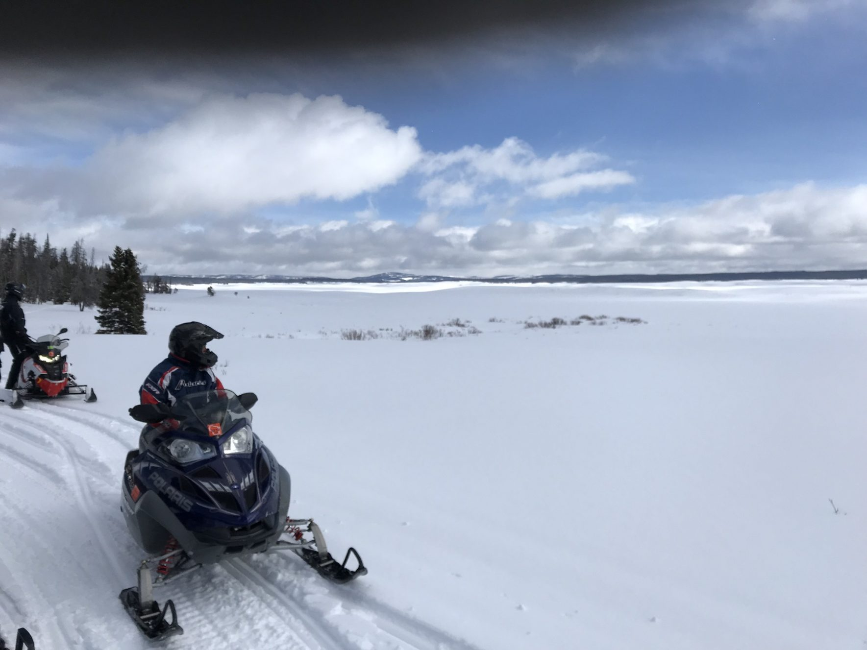 Plat5 Snowmobile Club Member on a club trip