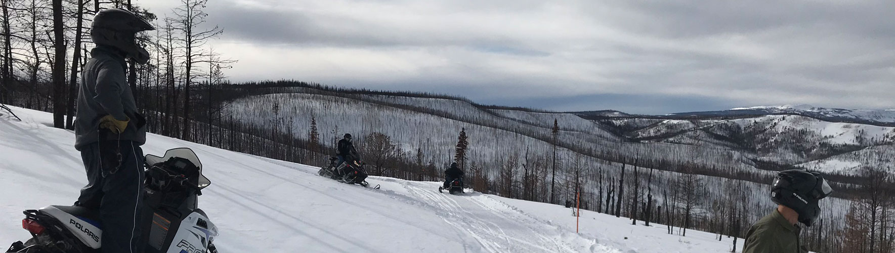 Plat5 Snowmobile Club Members on club trip